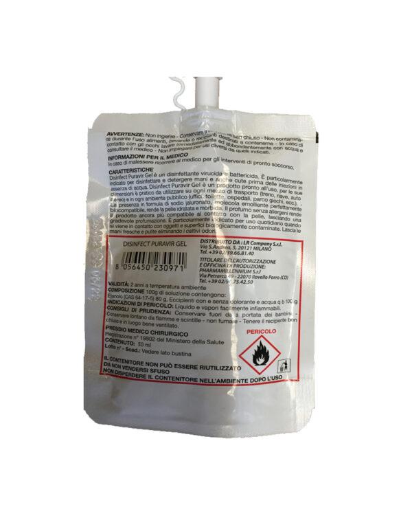 Disinfect Puravir - Disinfettante mani con azione Battericida e Virucida 50ml