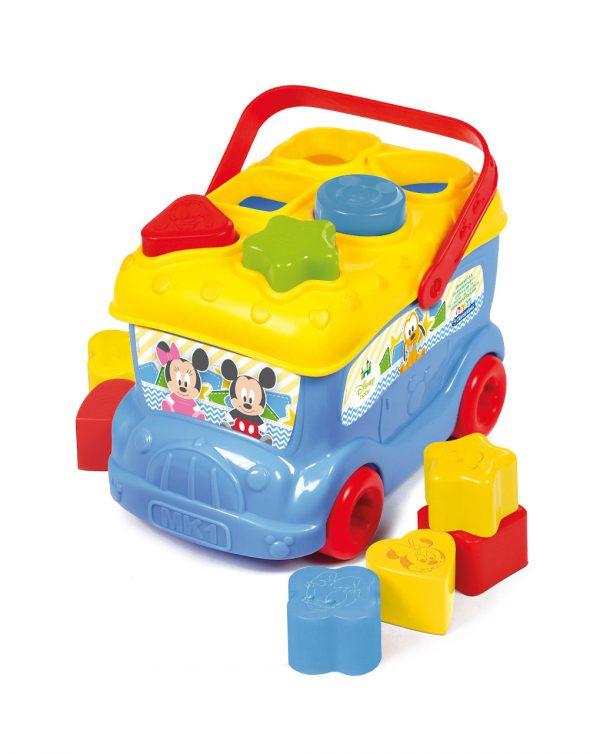 Clementoni - Soft Clemmy - Baby Mickey Bus Inserimento Forme - Clementoni