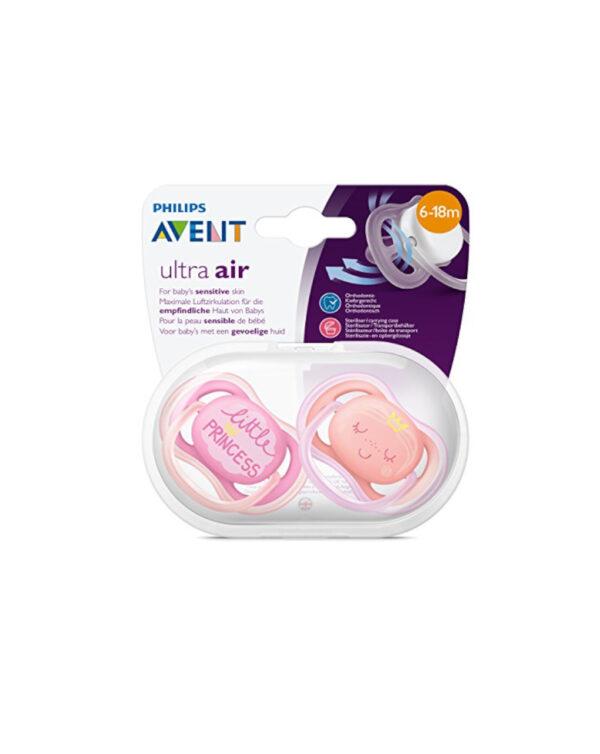 Succhietti ultra air princess 6-18 mesi 2 pezzi avent - Avent