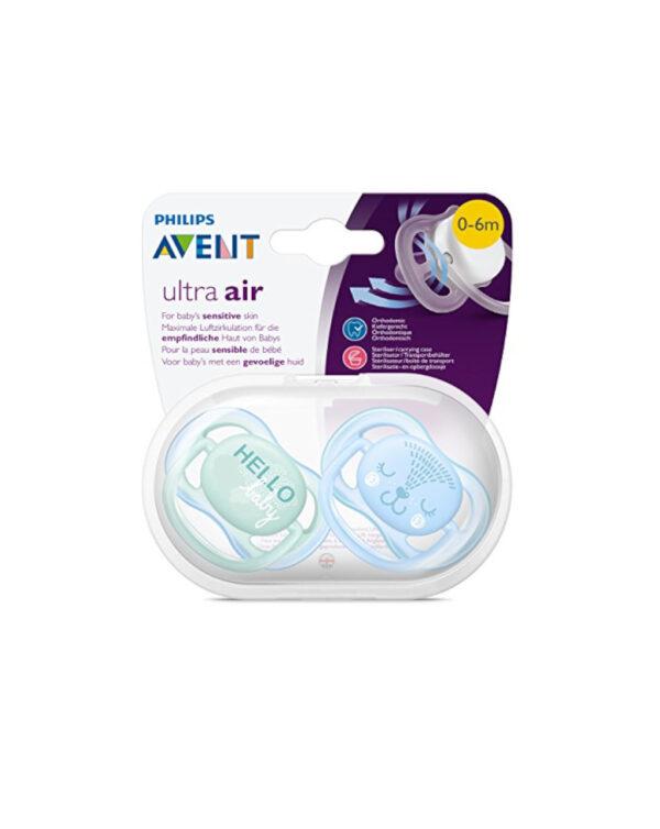 Succhietti ultra air hello boy 0-6 mesi 2 pezzi avent - Avent