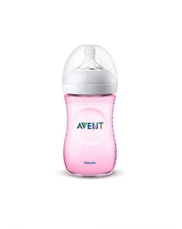 Biberon natural rosa 260ml - Avent
