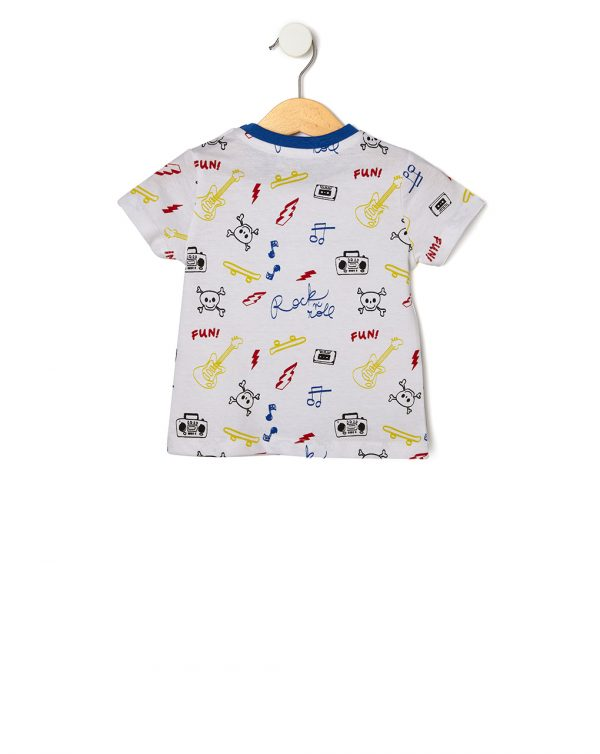 T-shirt bianca con stampa all-over - Prénatal