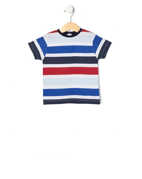 T-shirt basica a righe - Prénatal