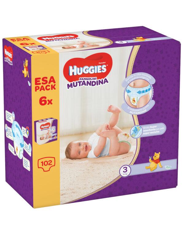 Huggies - Pannolini Mutandina esapack tg. 3 (102 pz) - Huggies