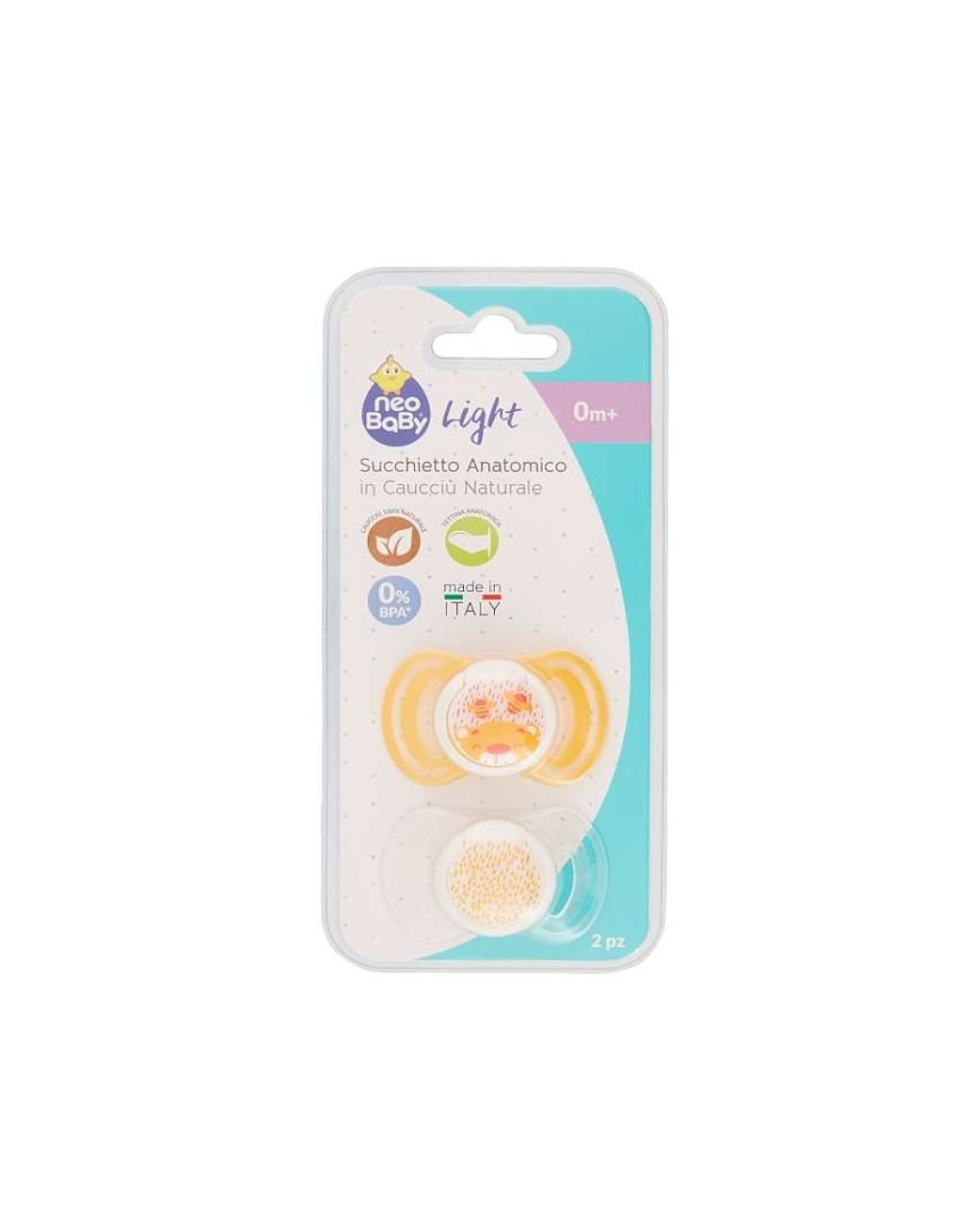 Succhietti light caucciù 0m+ arancio - Neo Baby