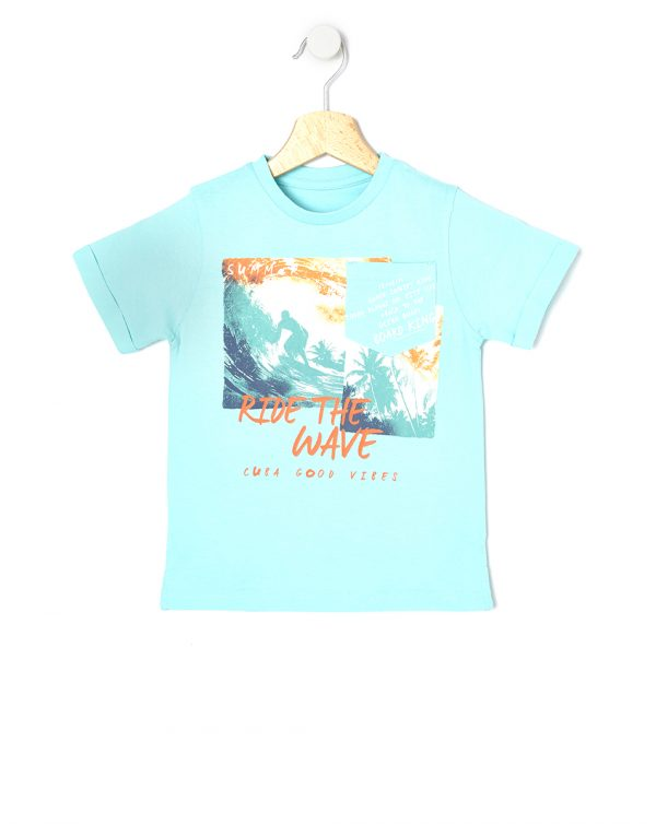 T-shirt mezza manica con stampa surf - Prénatal
