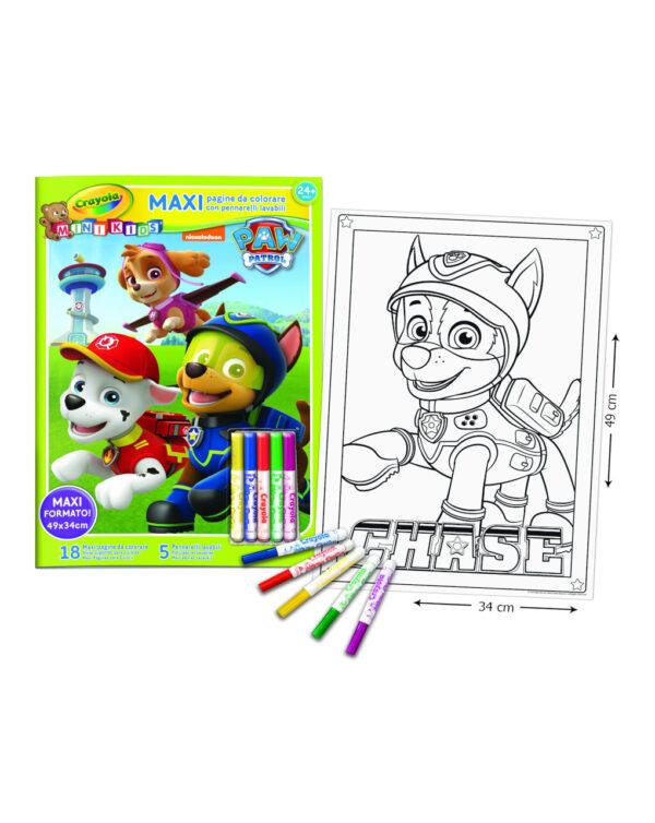 CRAYOLA - Maxi Pagine da Colorare Paw Patrol con pennarelli MK - Crayola