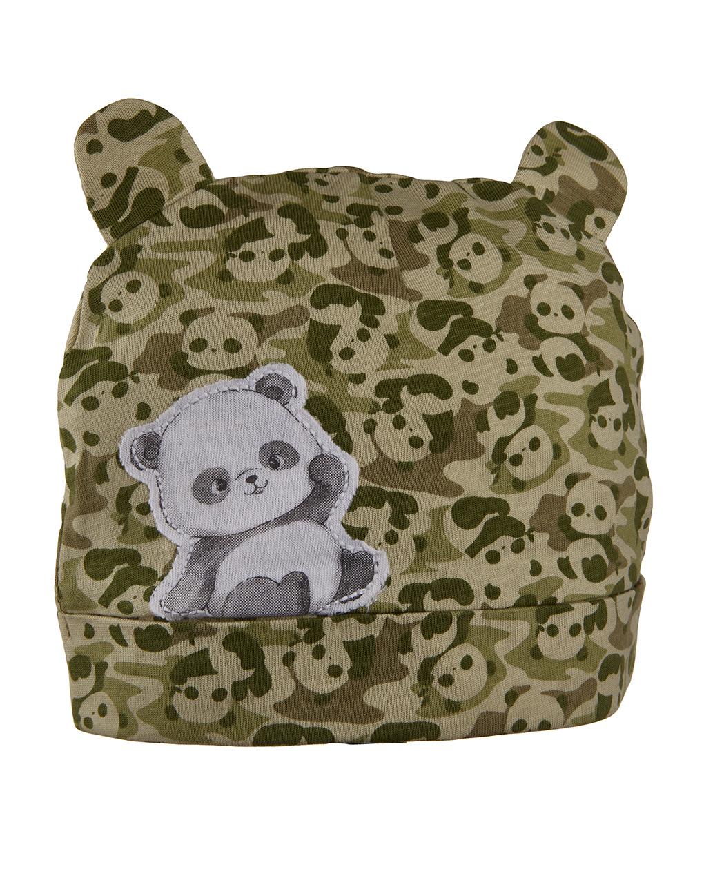 Cappellino in jersey con stampa panda - Prénatal