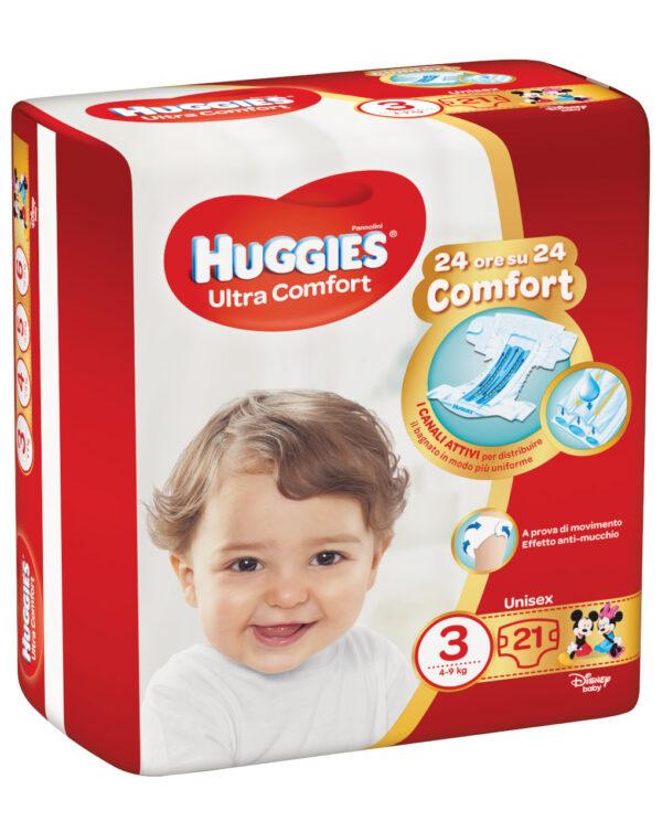 Huggies - Pannolini Ultra Comfort base tg. 3 (21 pz) - Huggies