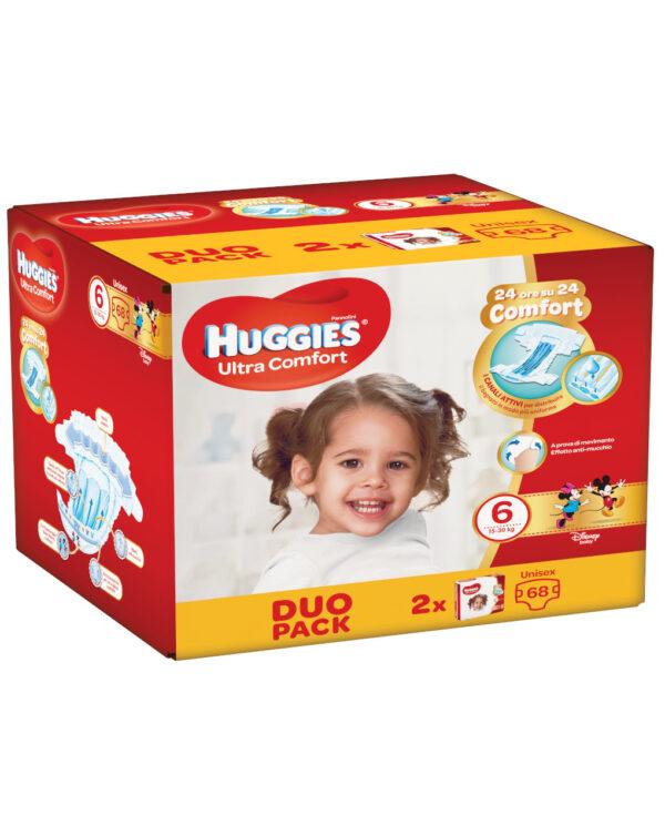 Huggies - Pannolini Ultra Comfort duopack tg. 6 (68 pz) - Huggies