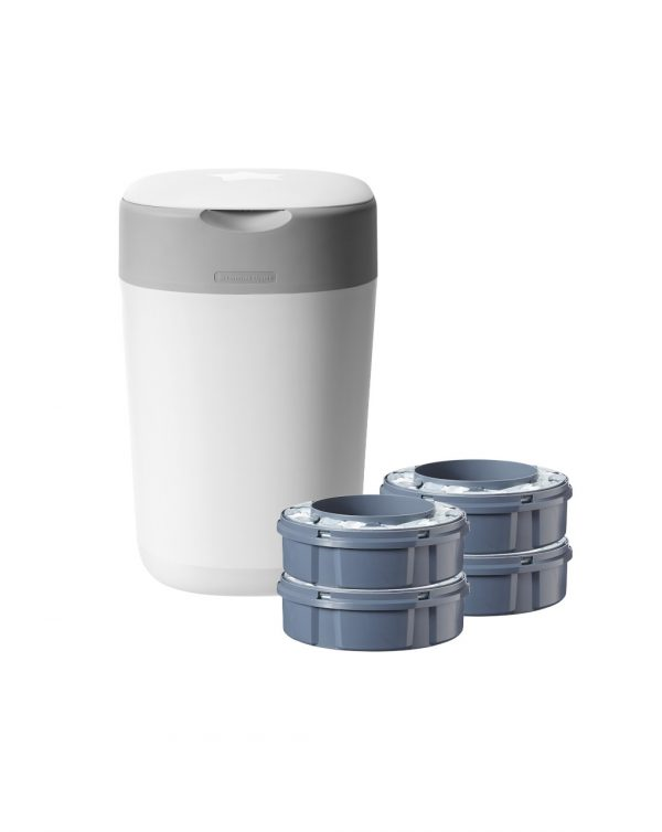 Tommee Tippee Sangenic Twist and Click - Contenitore pannolini + 4 ricariche - Sangenic