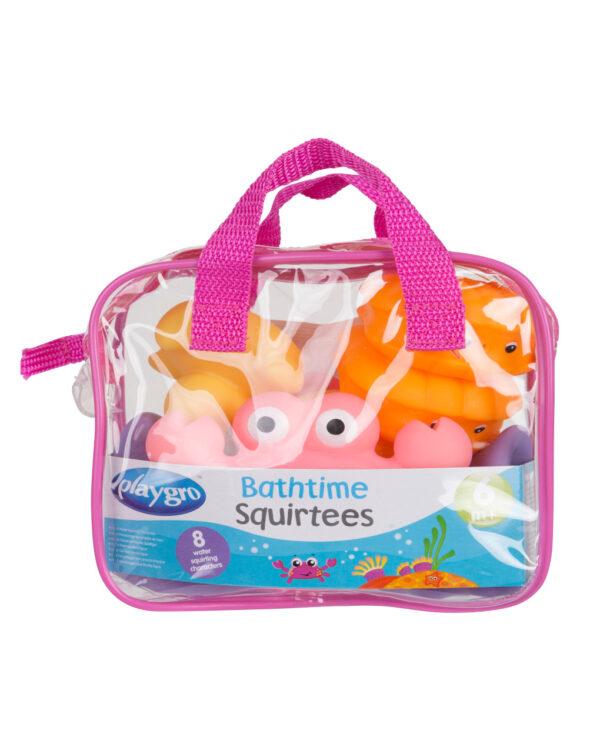 PLAYGRO - Bathtime Squirtees (Pink) - Playgro
