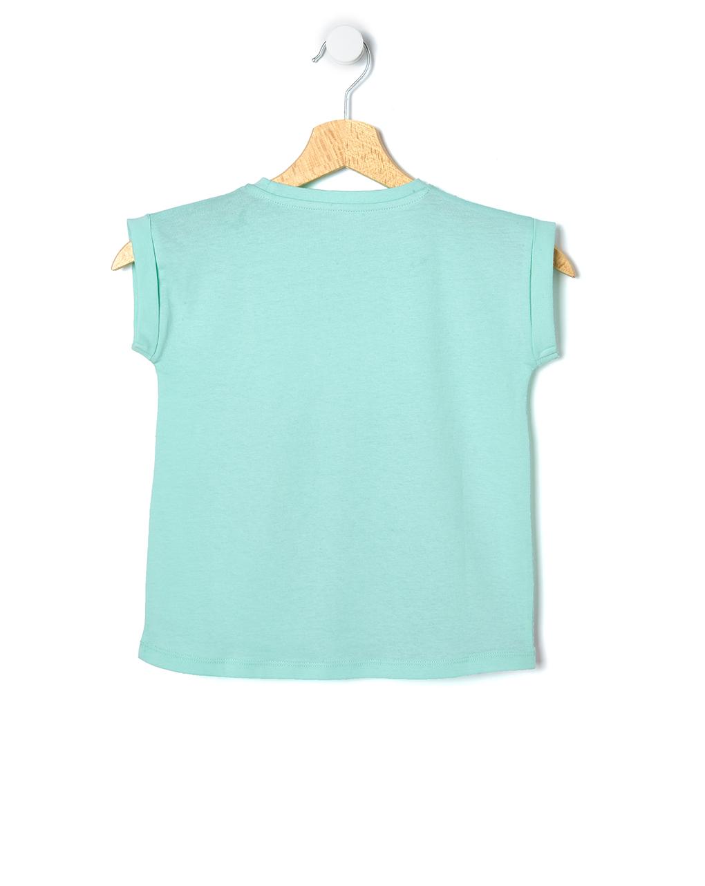 T-shirt basica con maxi stampa glitter - Prénatal