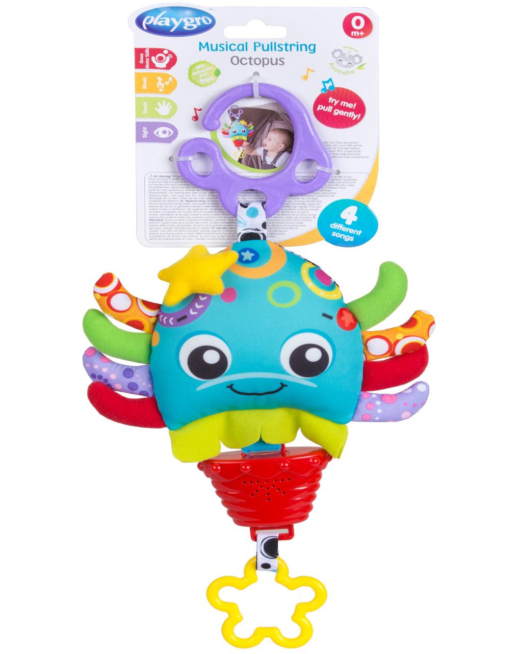Playgro - musical pullstring octopus - Playgro