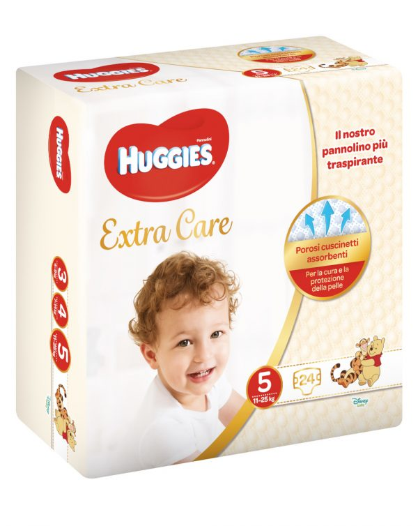 Huggies - Pannolini Extra Care medio tg. 5 (24 pz) - Huggies