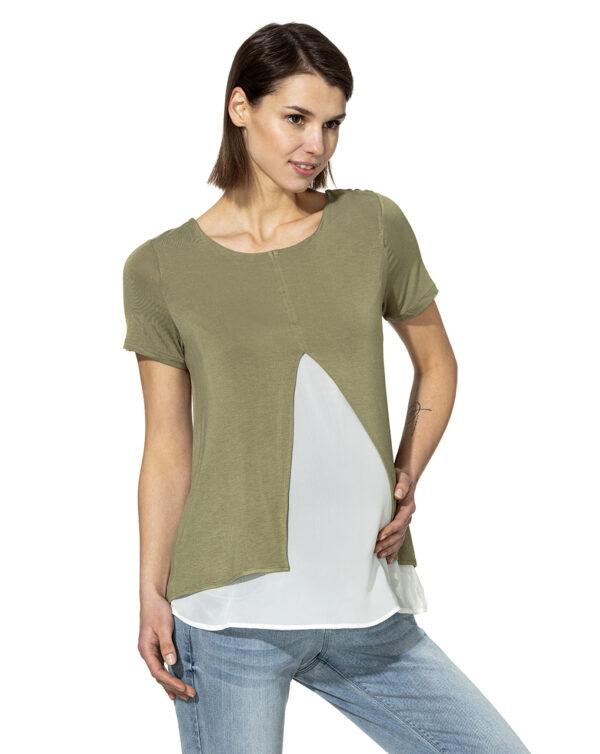 T-shirt mezza manica bicolor - Prénatal