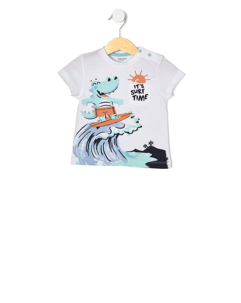 T-shirt con stampa coccodrillo - Prénatal