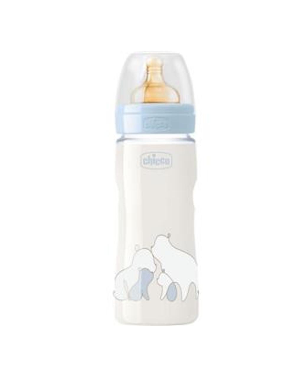 Biberon original touch 330 ml azzurro flusso regolabile  caucciu - Chicco