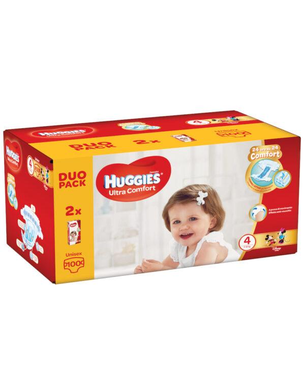 Huggies - Pannolini Ultra Comfort duopack tg. 4 (100 pz) - Huggies