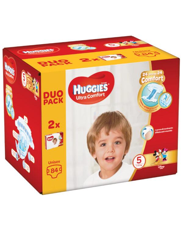 Huggies - Pannolini Ultra Comfort duopack tg. 5 (84 pz) - Huggies
