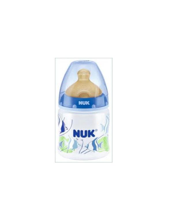 Biberon 150 ml blu caucciù - Nuk