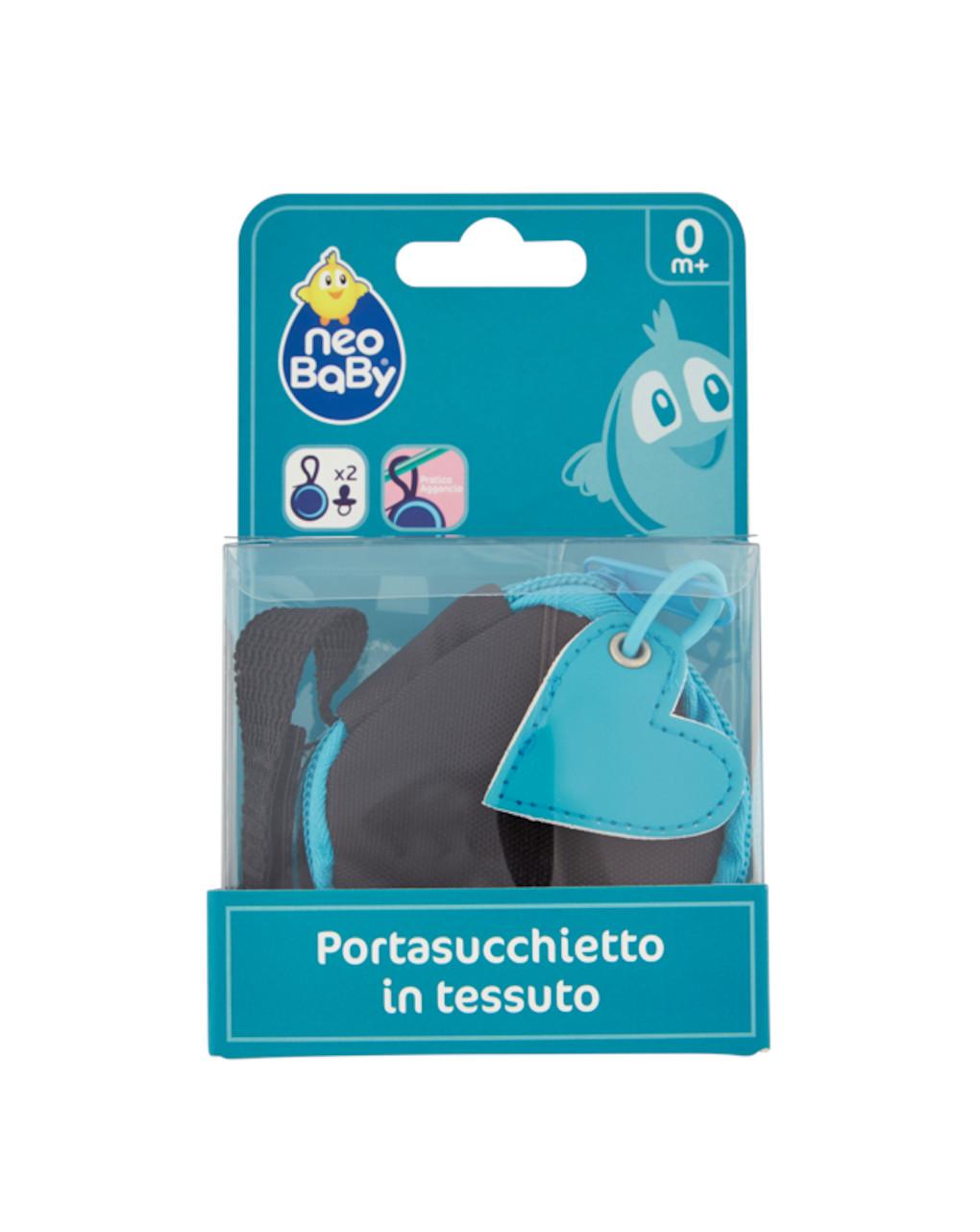 Portasucchietto in tessuto azzurro neo baby - Neo Baby