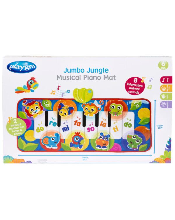 PLAYGRO - Jumbo Jungle Musical Piano Mat - Playgro