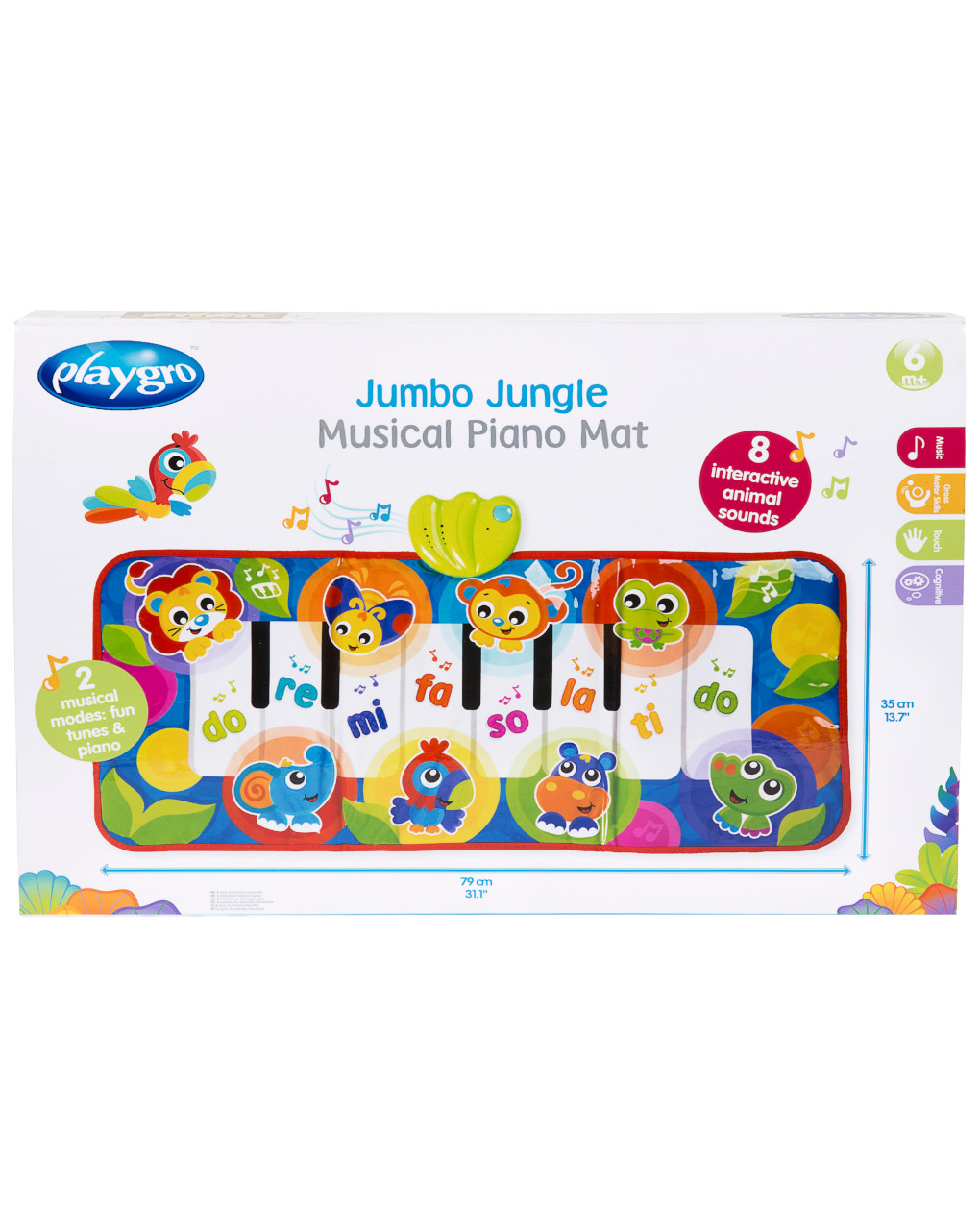 Playgro - jumbo jungle musical piano mat - Playgro