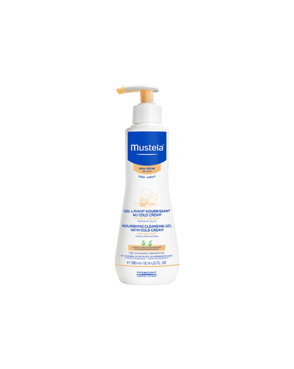 Detergente nutriente cold cream - 300 ml - Mustela