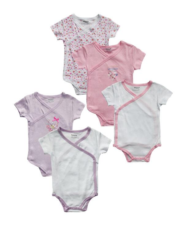 Pack x5 body maniche corte girl - Prenatal 2