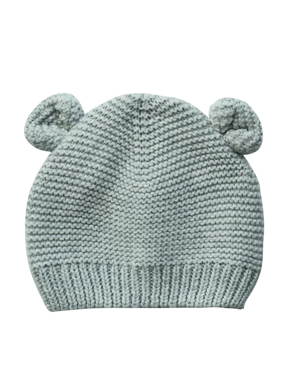 Cappello in tricot grigio con orecchie - Prénatal