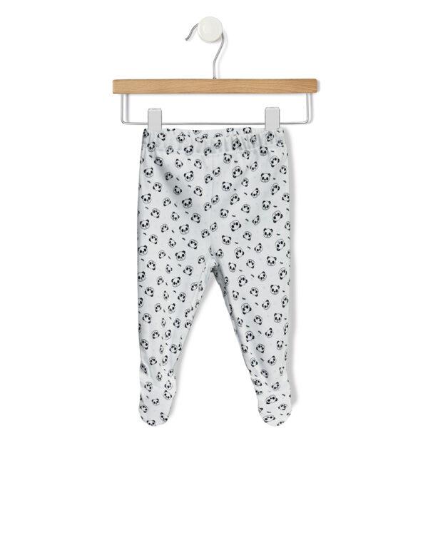 Pack 2 ghette azzurre e bianche con panda - Prenatal 2