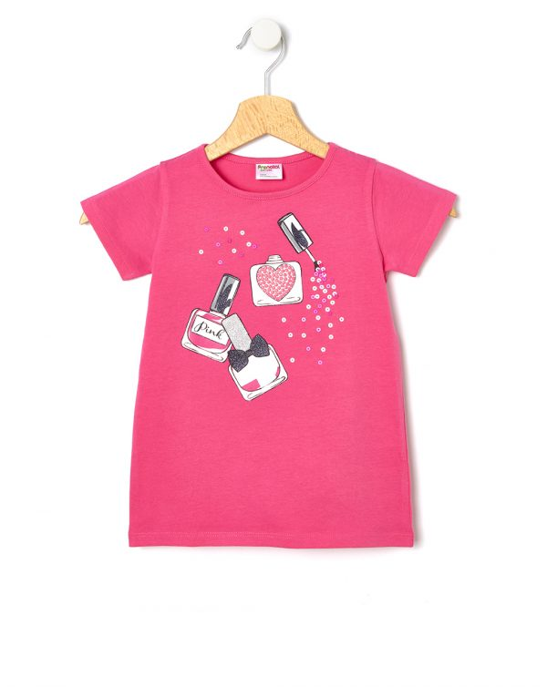 T-shirt con stampa smalti glitterati - Prénatal