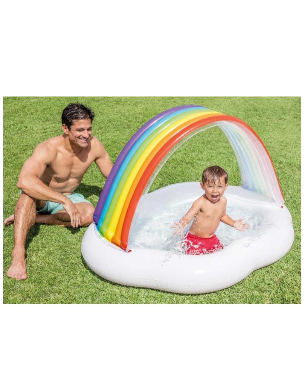 Intex - piscina baby arcobaleno 142x119 cm - Intex