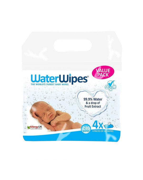 Water wipes - salviettine 99,9% di acqua (4 x 60 pz) - Water Wipes