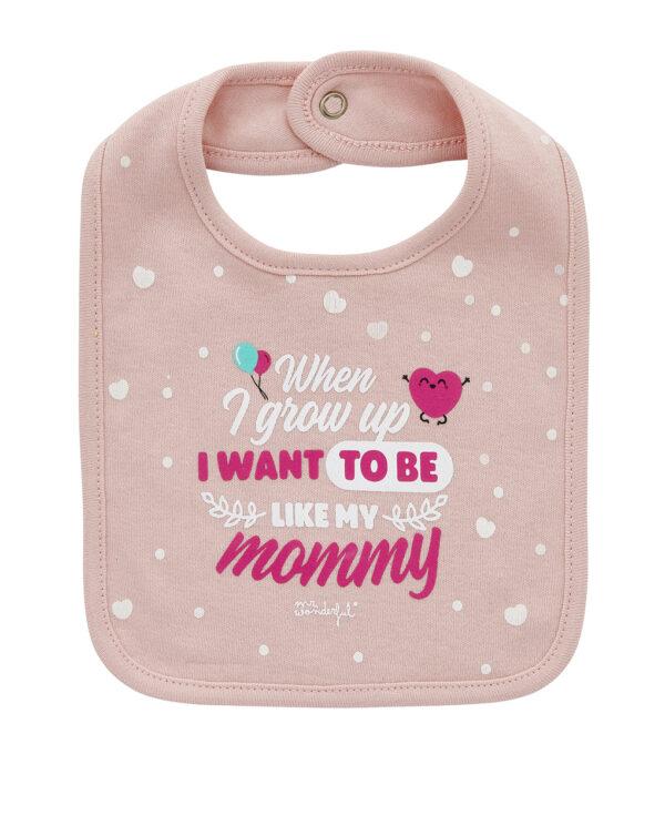Bavaglino rosa chiaro con scritta - Prenatal 2