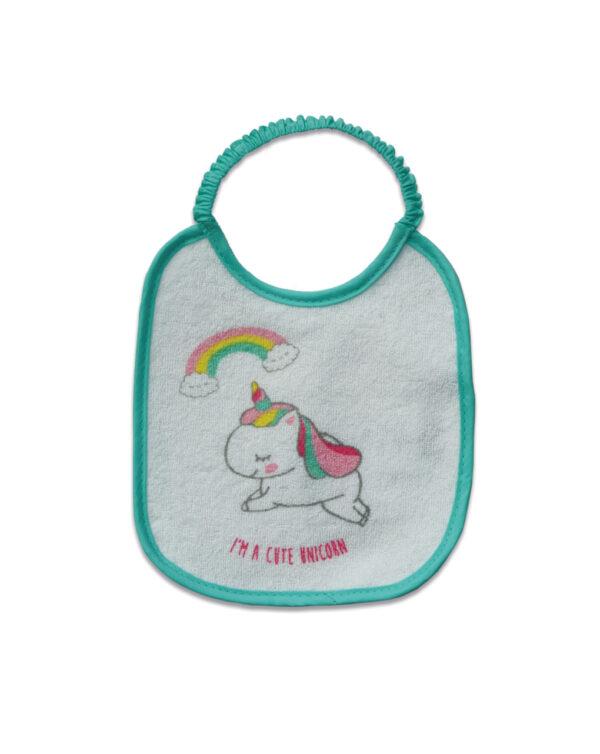 Bavaglino in spugna unicorno - Prenatal 2