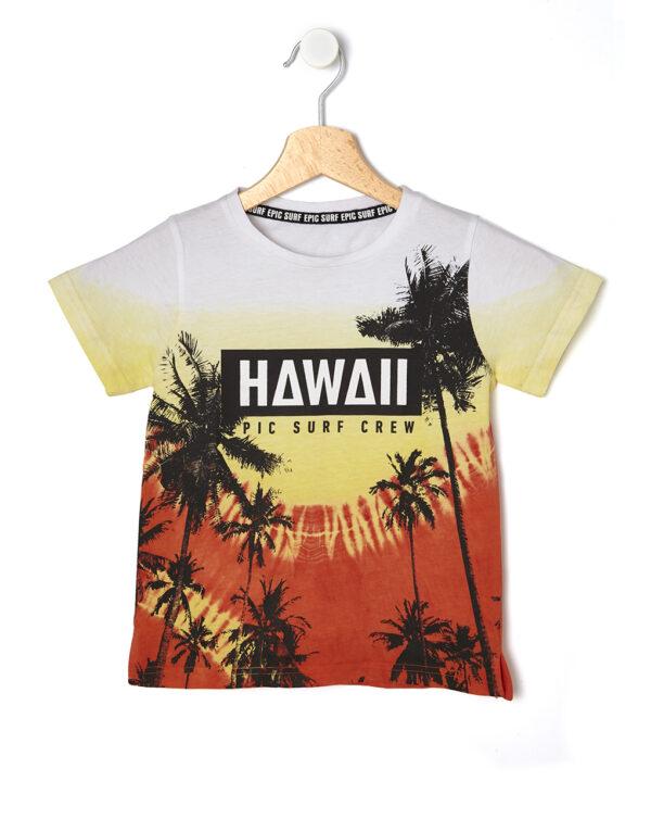 T-shirt mezza manica con stampa Hawaii - Prénatal