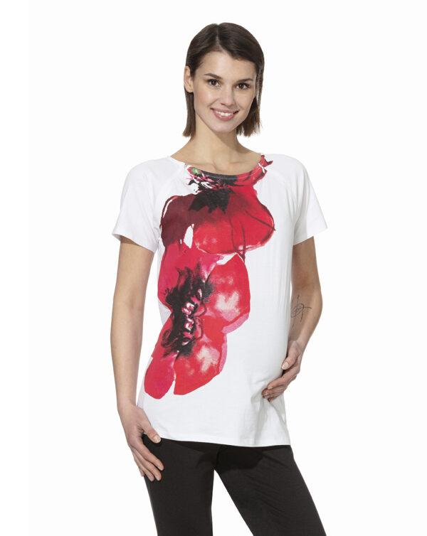 T-shirt allattamento con maxi stampa - Prénatal