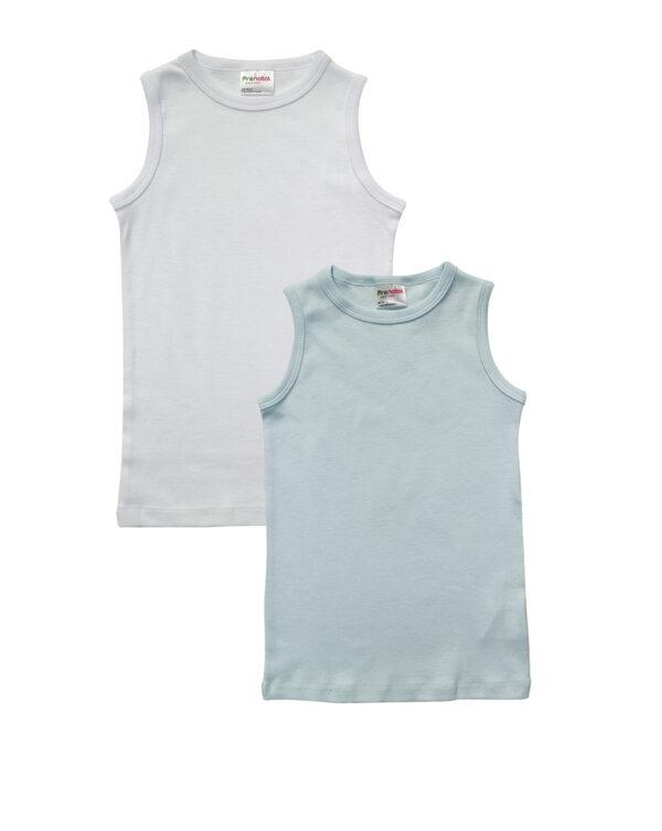 Pack x2 canotta bianca e azzurra - Prenatal 2
