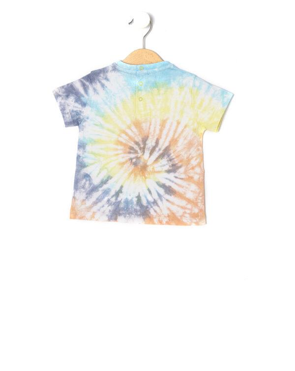 T-shirt mezza manica Tie and dye con stampa - Prénatal
