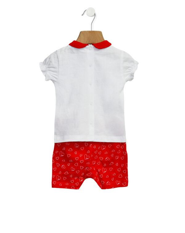Completo in jersey con stampa cuori - Prénatal