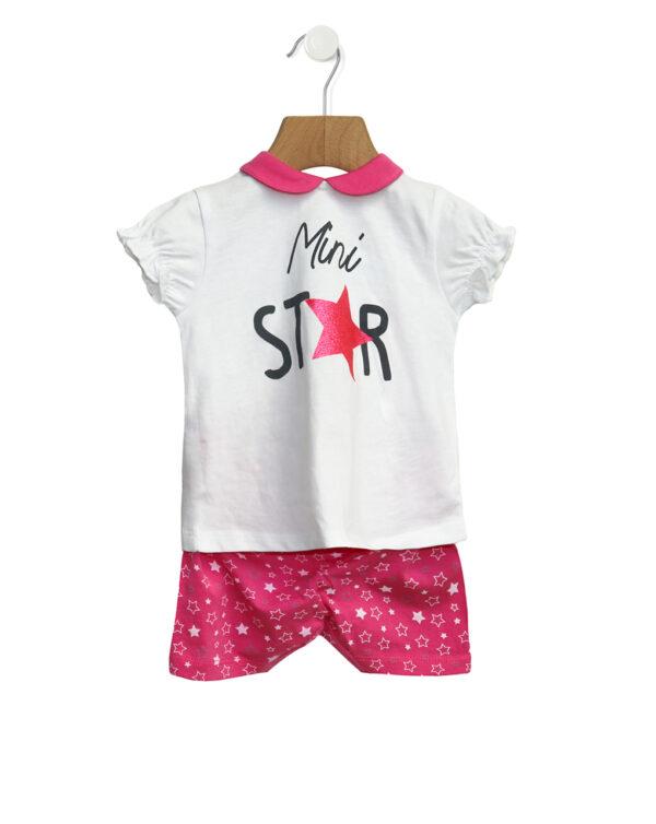 Completo in jersey con stampa mini star - Prénatal