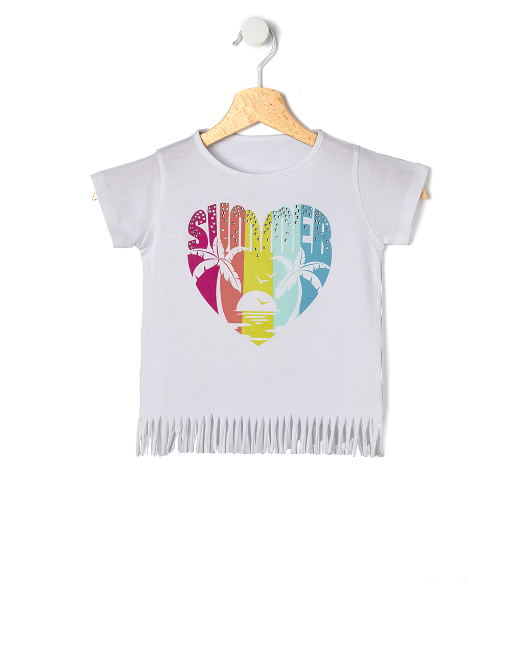 T-shirt in jersey con stampa cuore - Prénatal