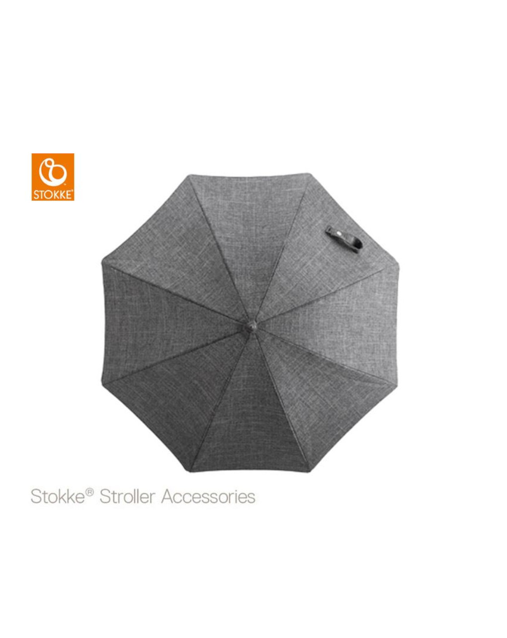Stokke® passeggino ombrellino parasole - black melange - Stokke