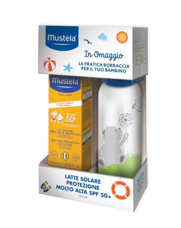 Latte solare SPF50+ 100 ml + Borraccia 500 ml - Mustela