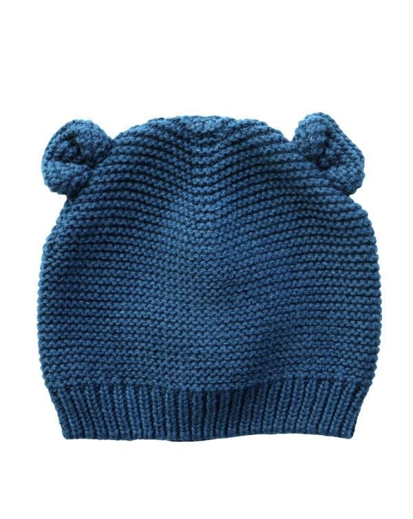 Cappello in tricot blu con orecchie - Prénatal