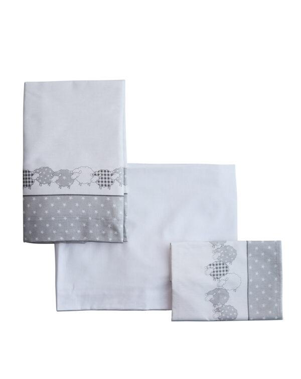 LETTO - Set 3 pezzi lenzuola lettino - Prénatal
