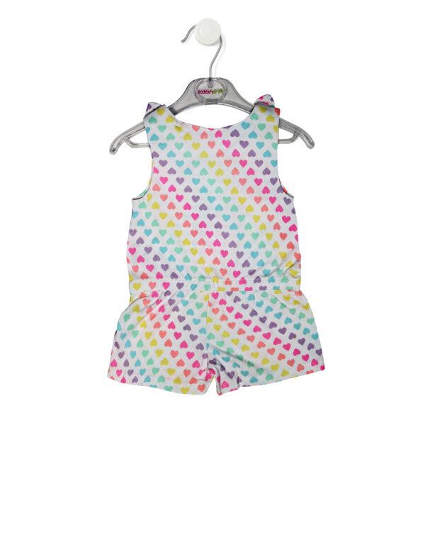 Tutina con stampa allover di cuori colorati - Prenatal 2