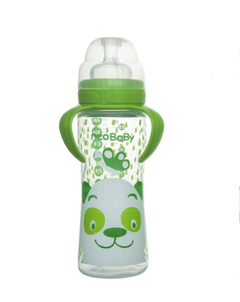 Biberon collo largo 330 ml verde silicone neo baby - Neo Baby